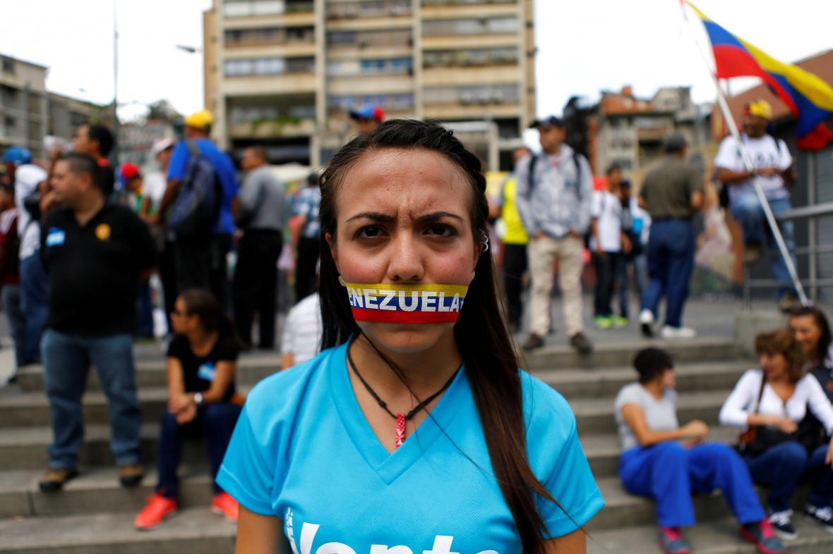 Opoziční protesty ve Venezuele