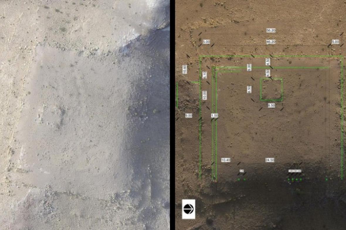 Vyvýšená plošina nalezená v Petře