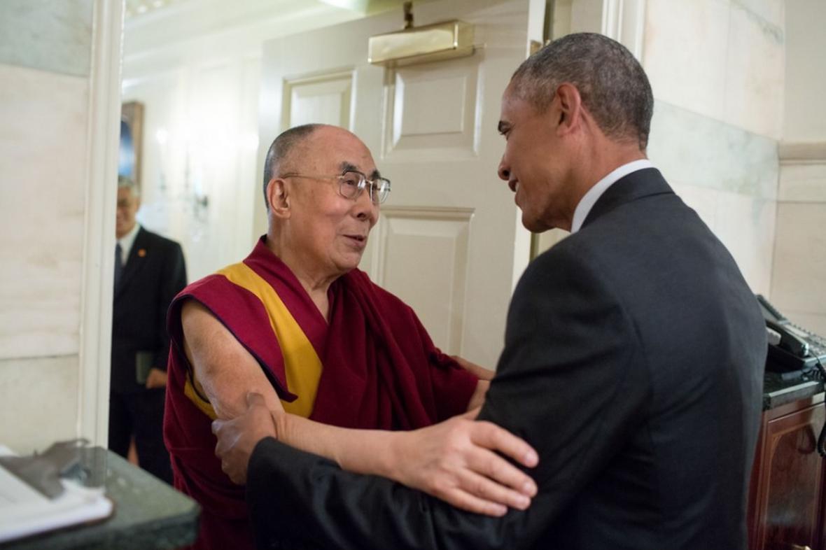 Dalajláma a Barack Obama
