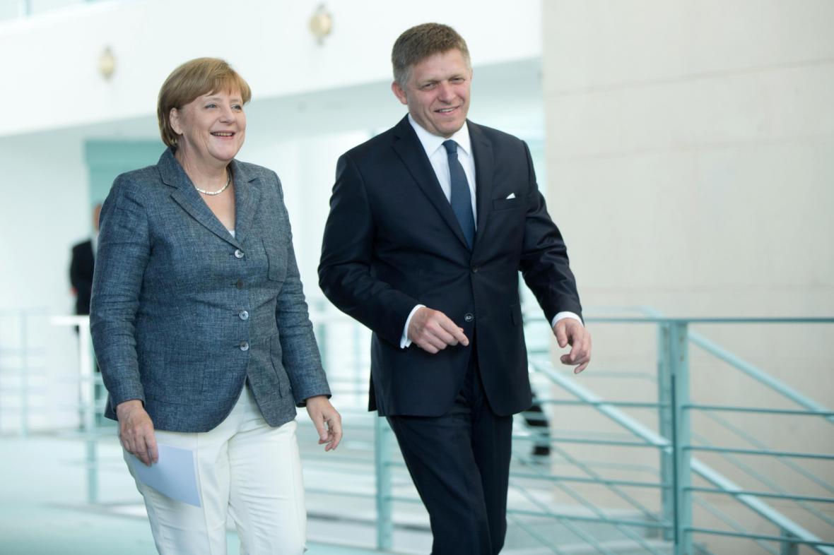 Angela Merkelová a Robert Fico