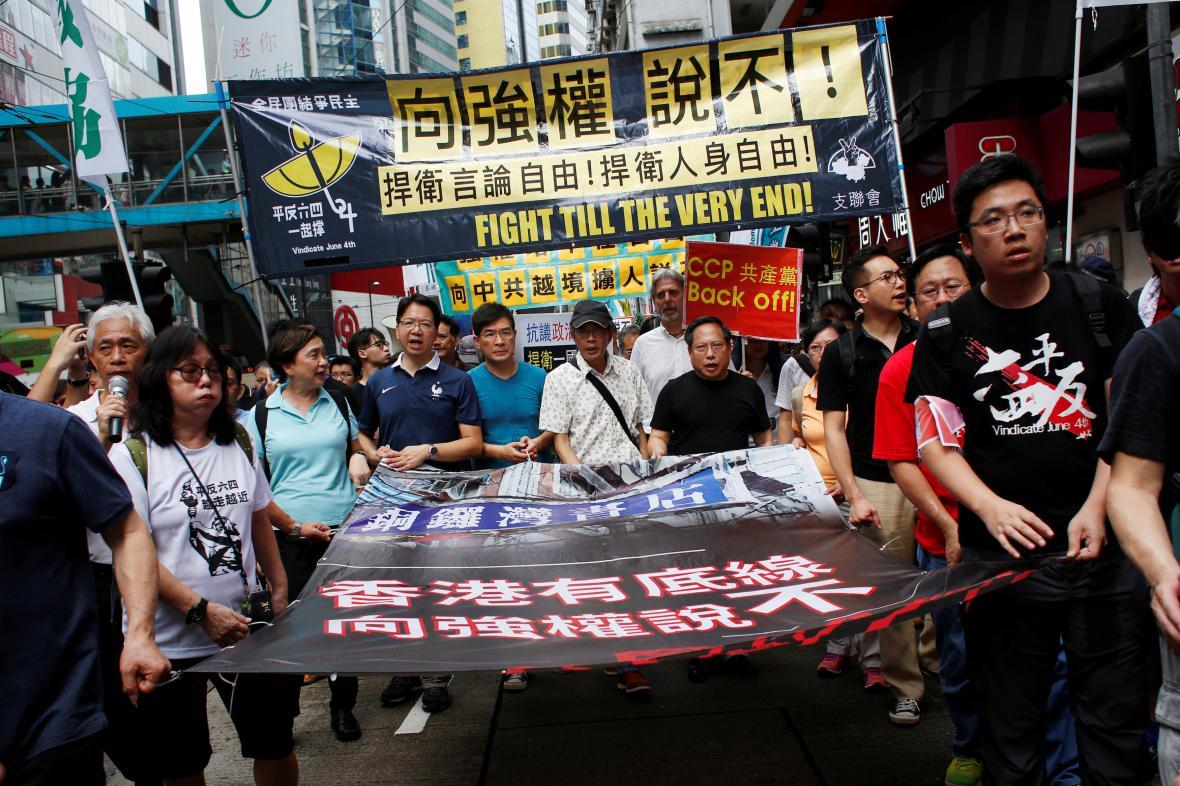 Hongkongský protest proti únosům knihkupců do Číny