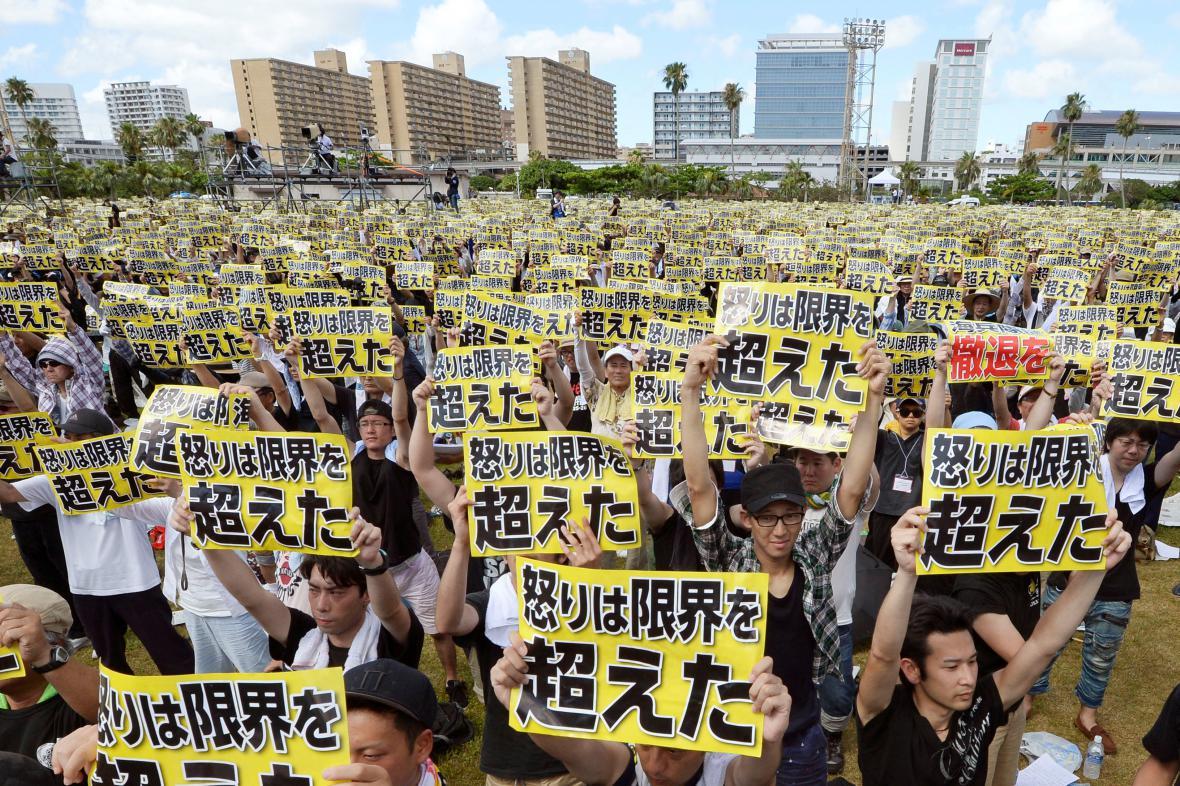 Protesty na Okinawě