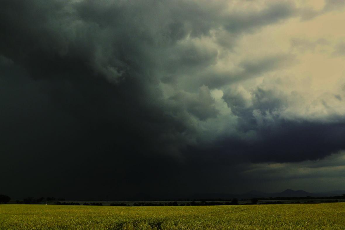 Sobotní bouřka na Litoměřicku