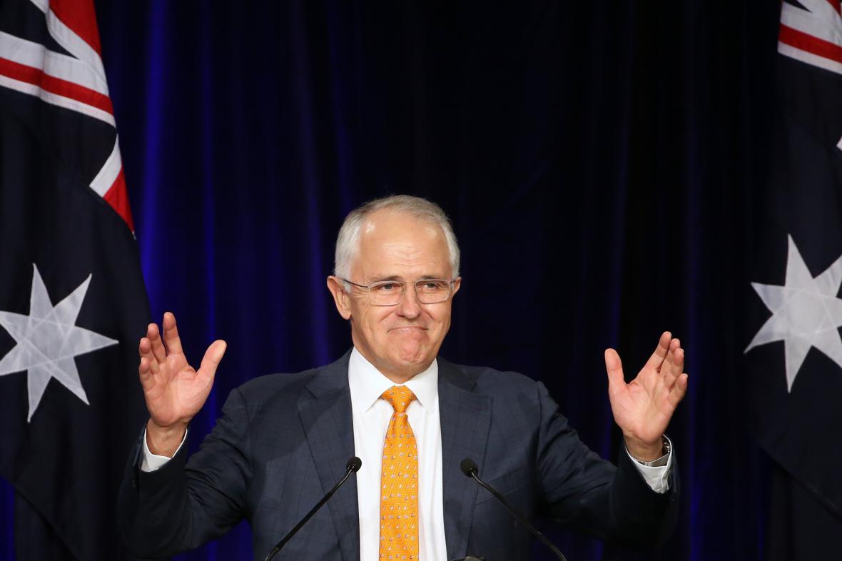 Předseda liberálů a premiér Malcom Turnbull