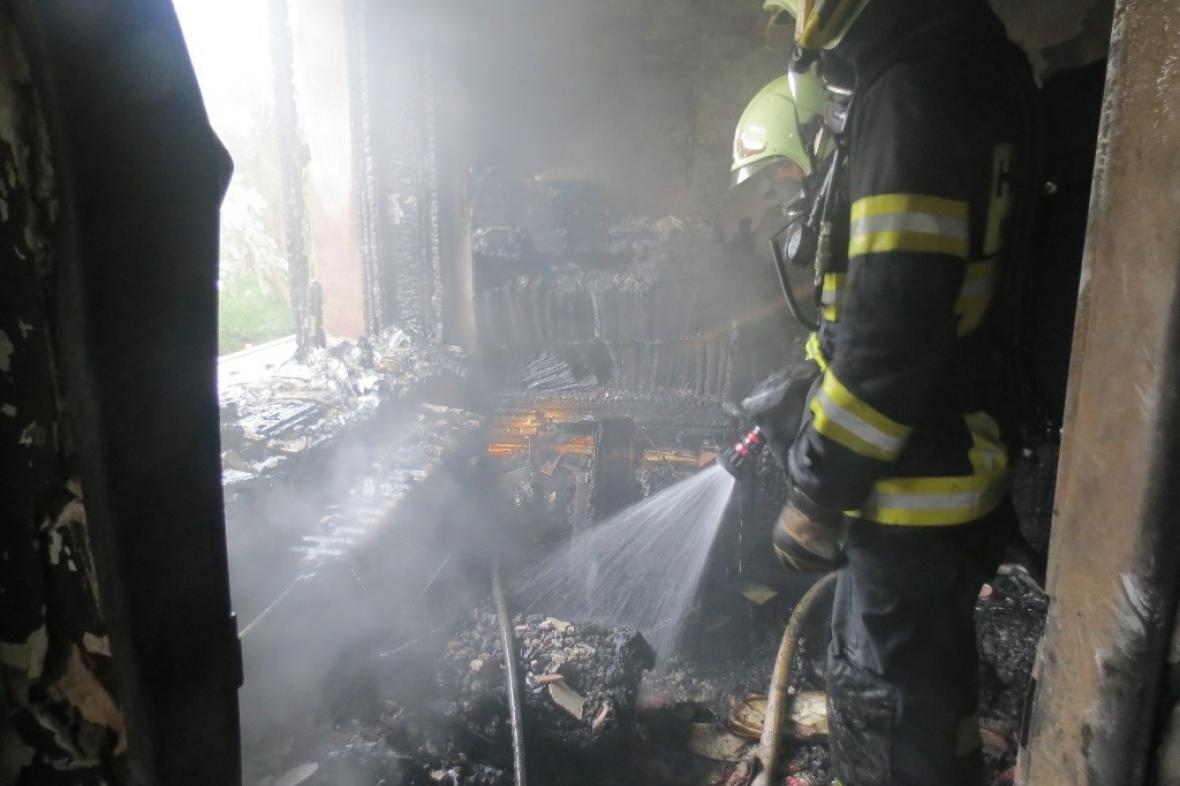 Požár v charitním Domově svaté Anežky