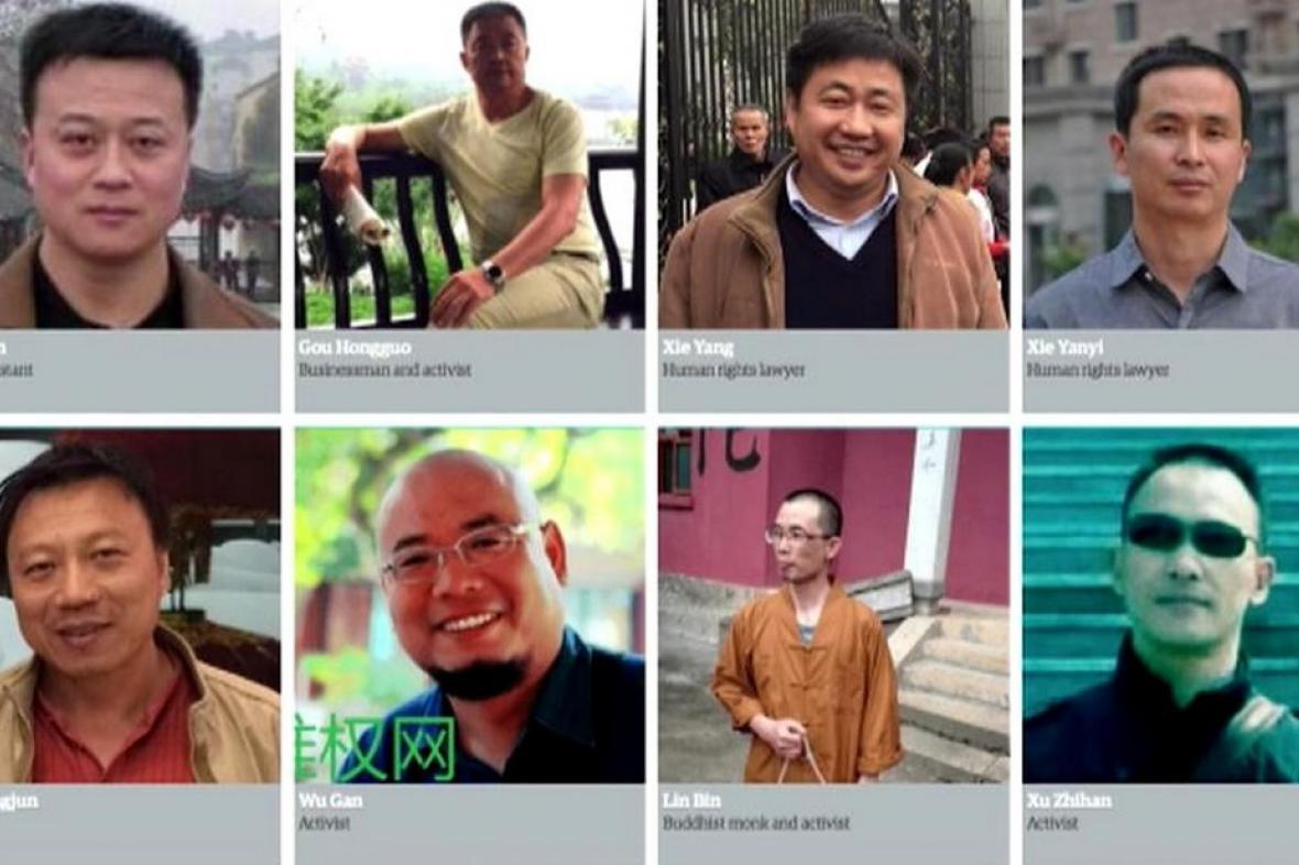 Zadržení čínští obhájci lidských práv a aktivisté