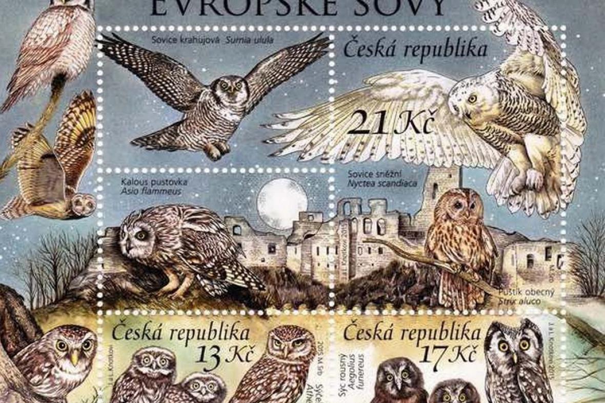 Evropské sovy od České pošty
