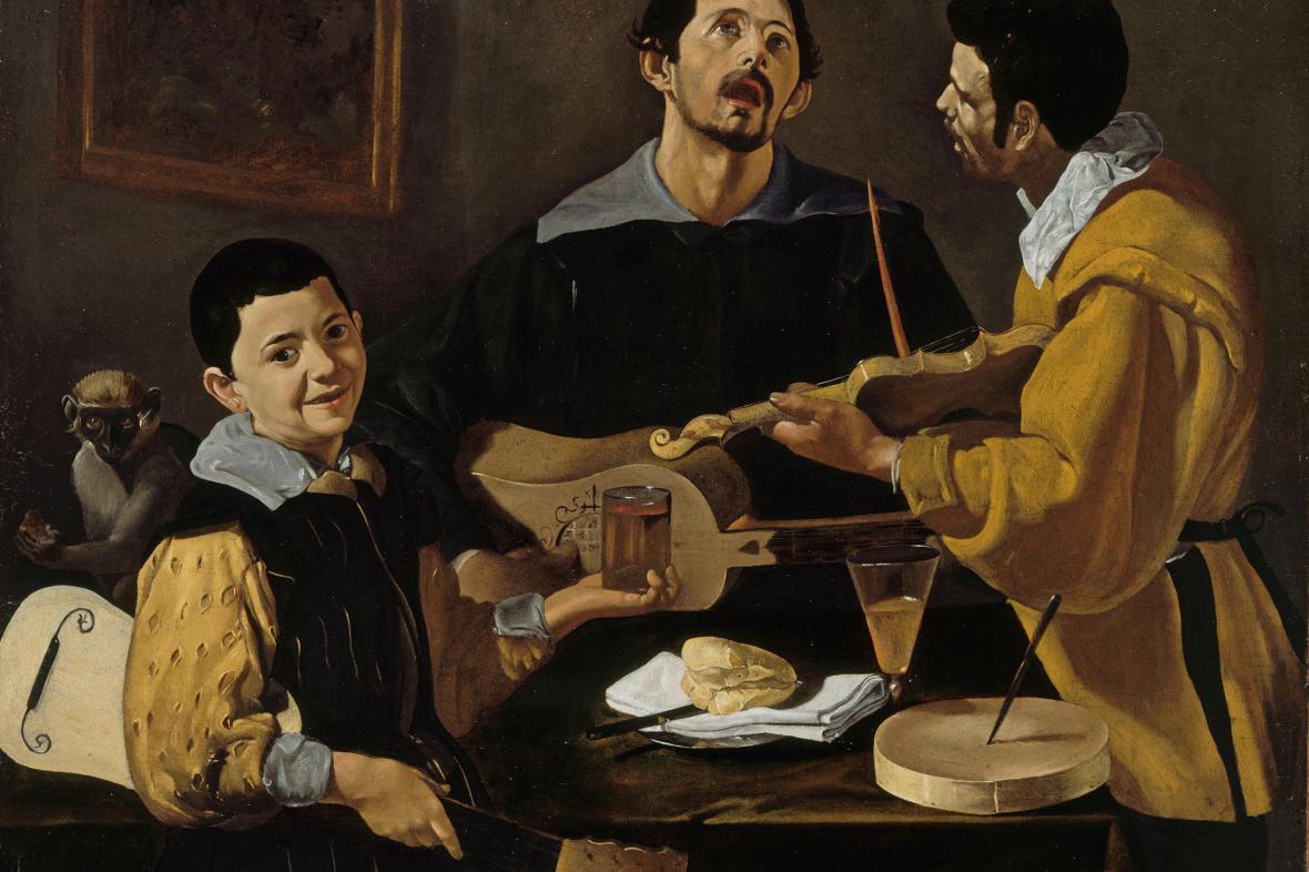 Diego Velázquez:/ Tři muzikanti, kolem 1616-1620