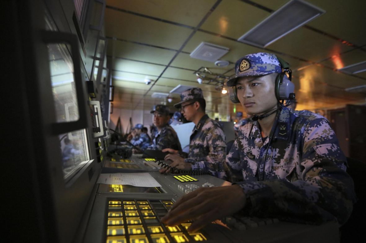 Dispečeři čínského námořnictva