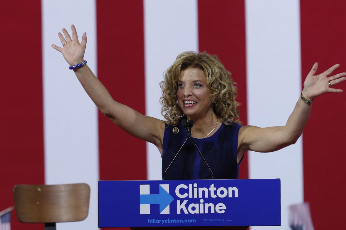Šéfka demokratické strany Debbie Wassermanová Schultzová