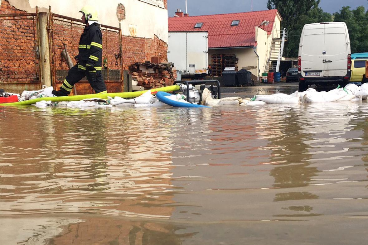 Zásah hasičů na Přerovsku