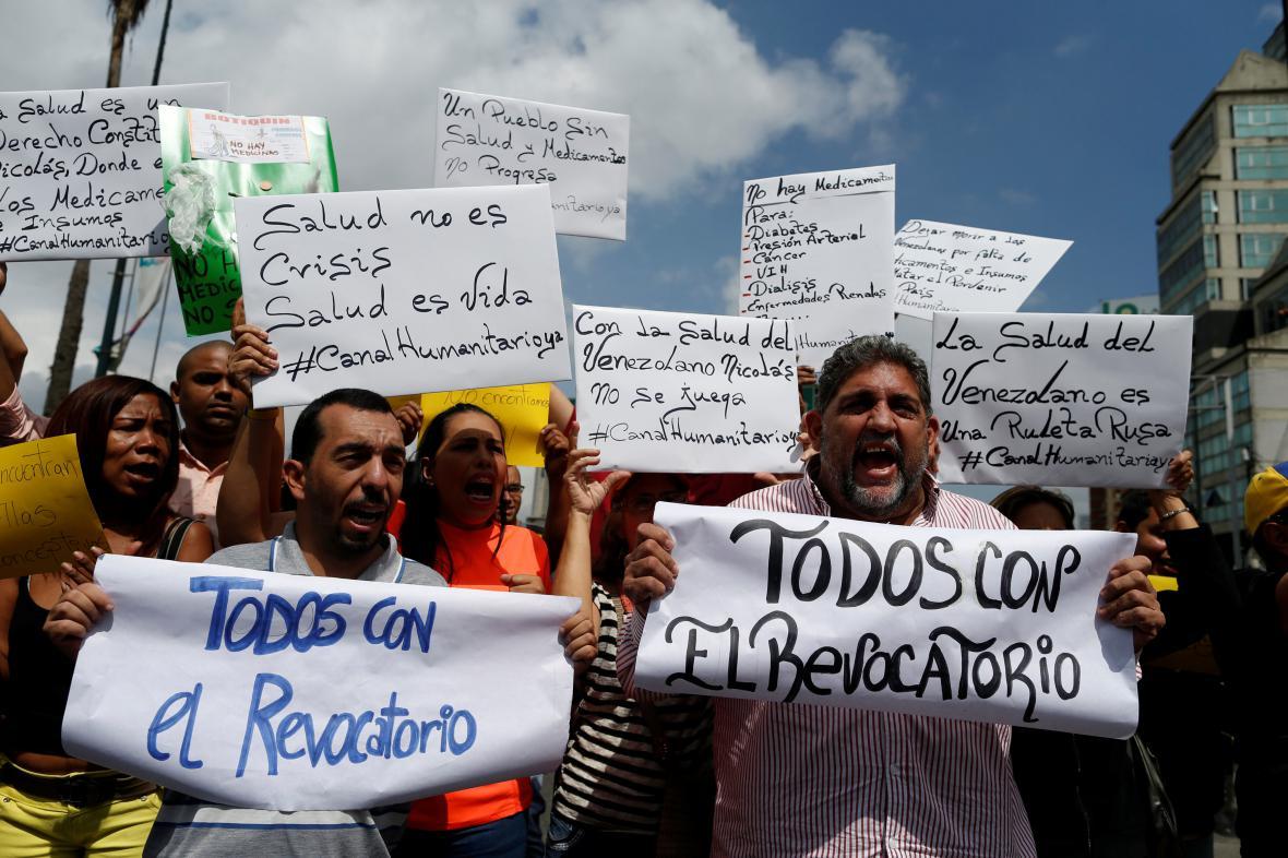 Opoziční protest ve Venezuele