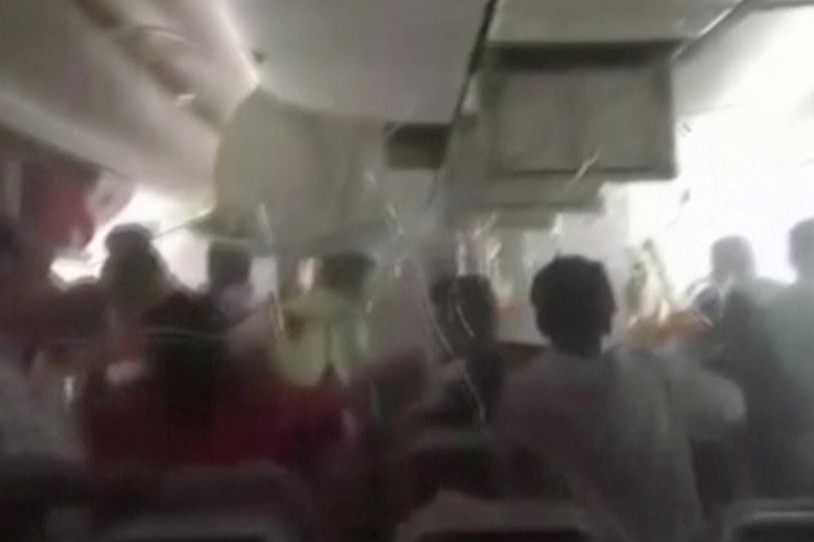 Poslední okamžiky před výbuchem letadla Emirates