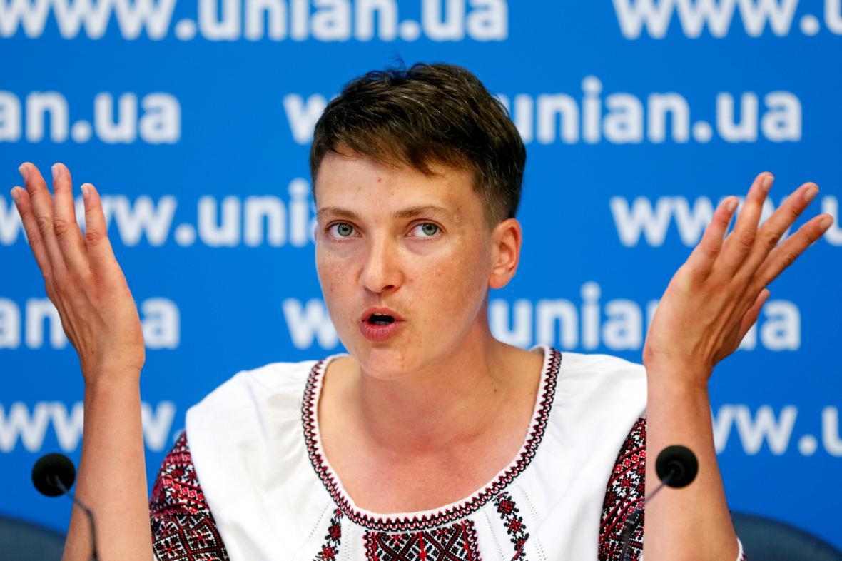 Ukrajinská pilotka Nadija Savčenková