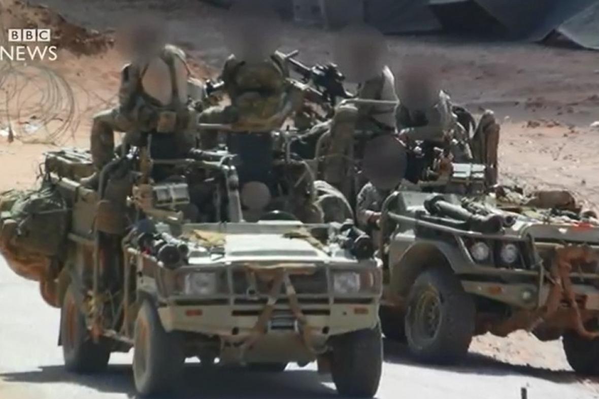 Britské speciální síly operující v Sýrii