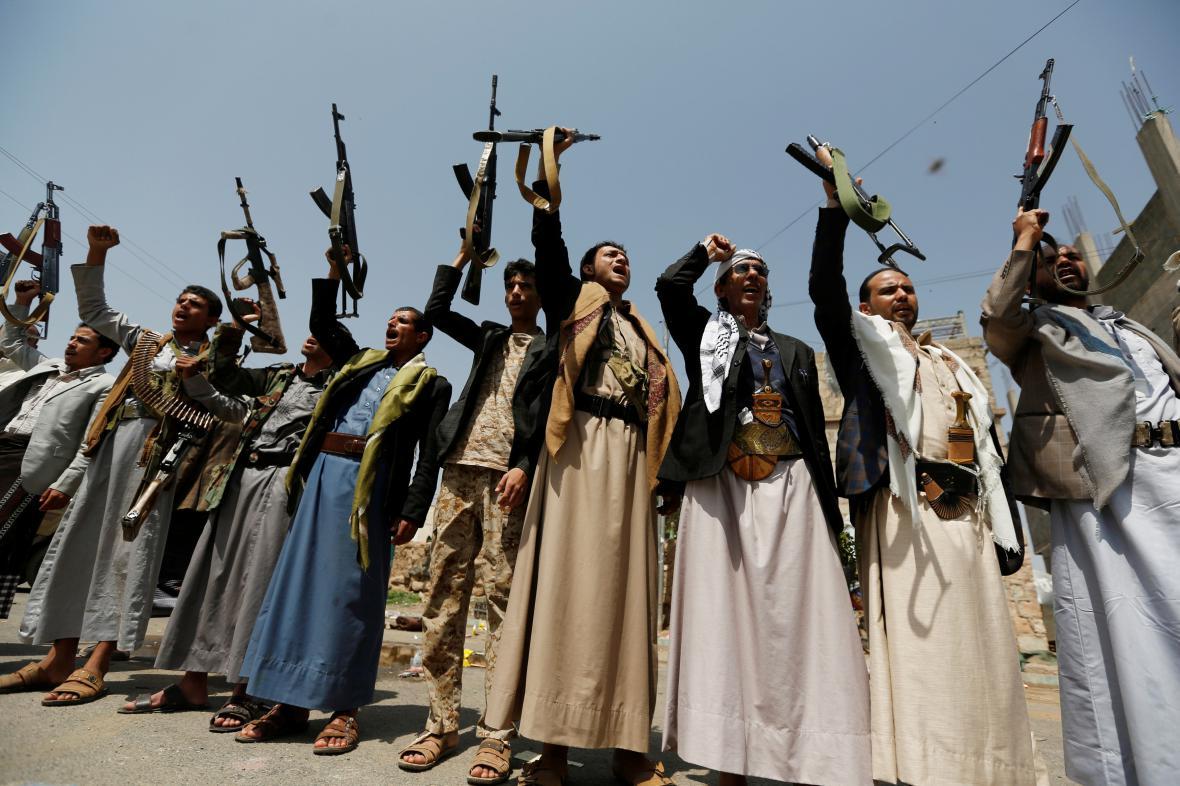Šíitští povstalci v Jemenu