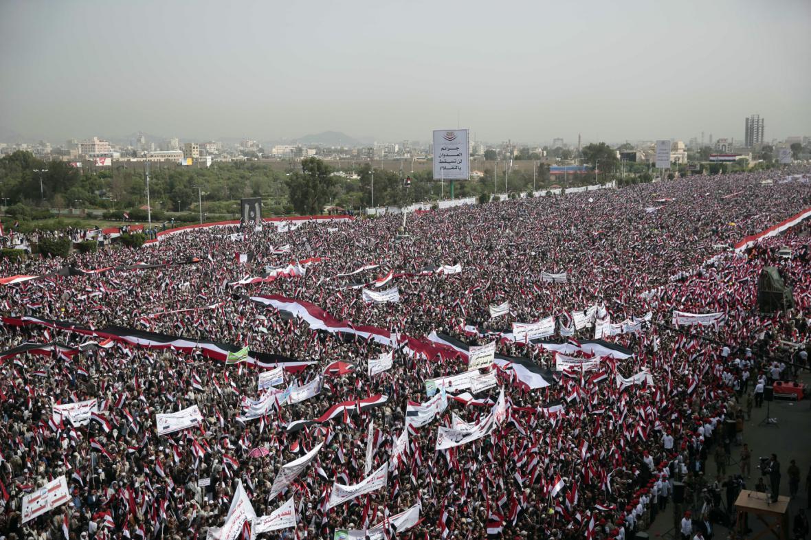 Masivní demonstrace v Jemenu