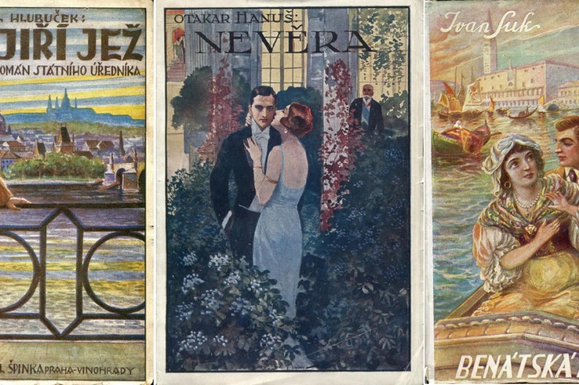 Barvotiskové obálky brakové literatury