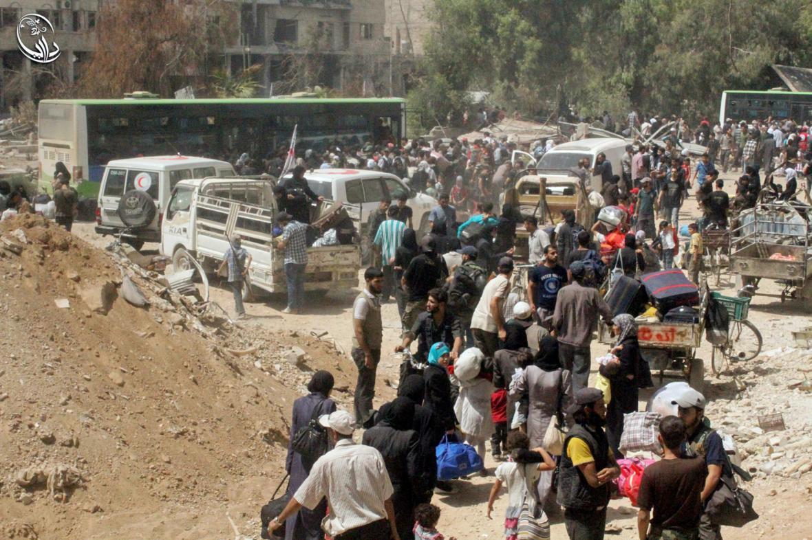 Evakuace syrského města Darája