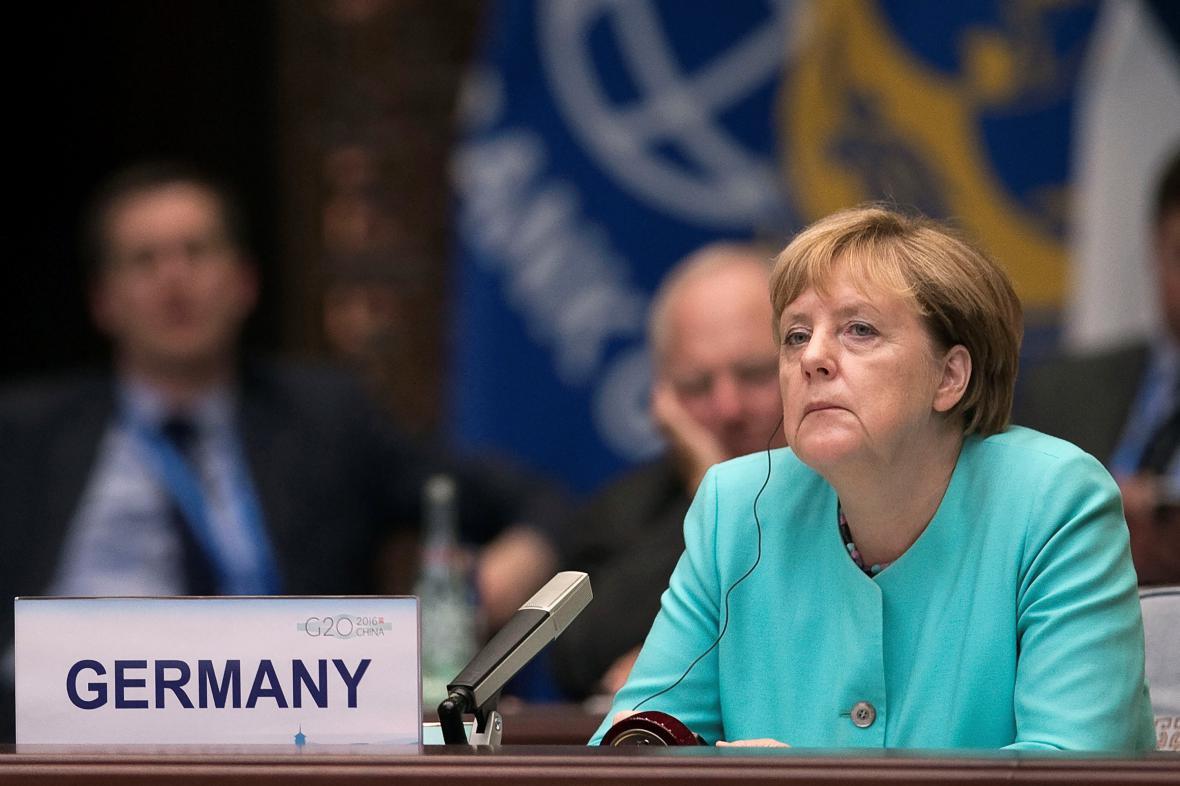 Kancléřka Angela Merkelová na summitu G20 v Číně