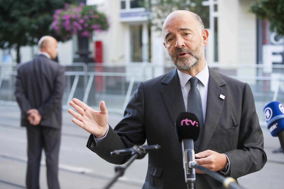Komisař pro hospodářské, měnové a daňové otázky Pierre Moscovici