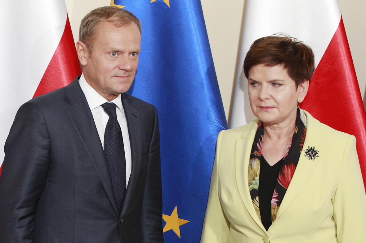 Donald Tusk a Beata Szydlová