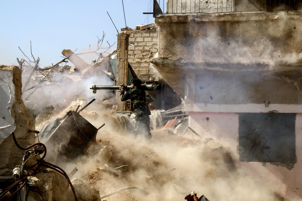 Boje na předměstí Damašku