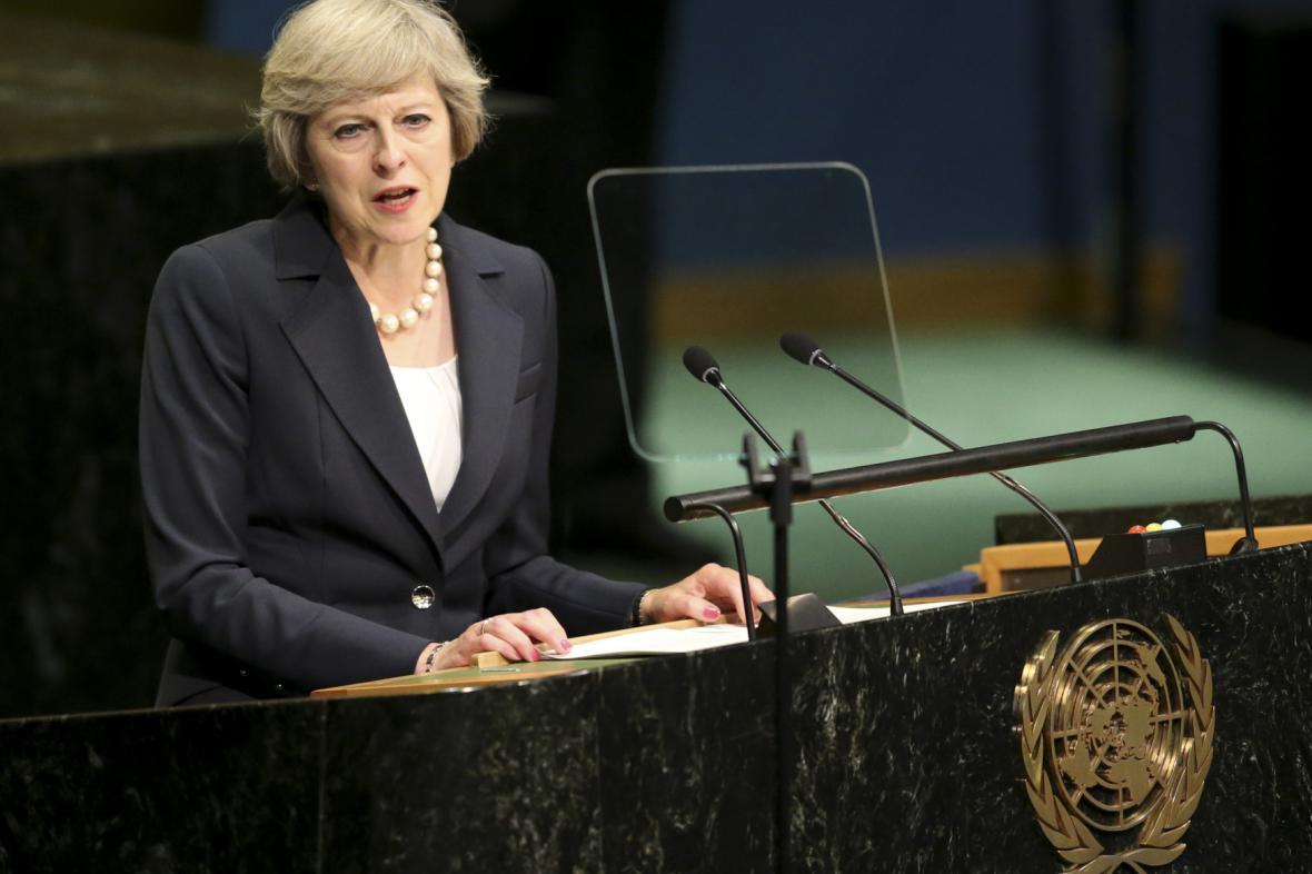 Theresa Mayová na půdě OSN