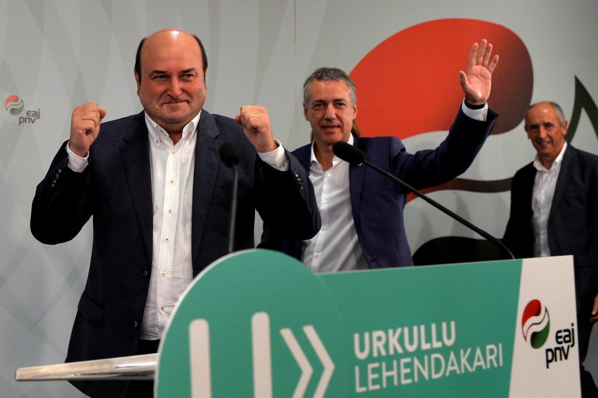 Vedení Baskické národní strany slaví vítězství v lokálních volbách