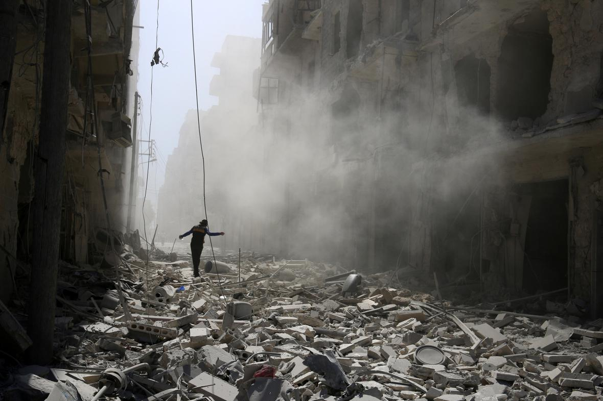 Aleppo po náletu