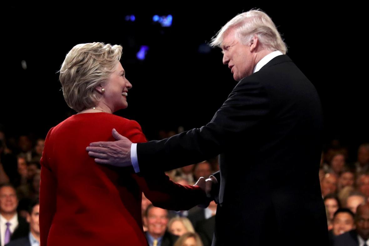 Duel Trump-Clintonová