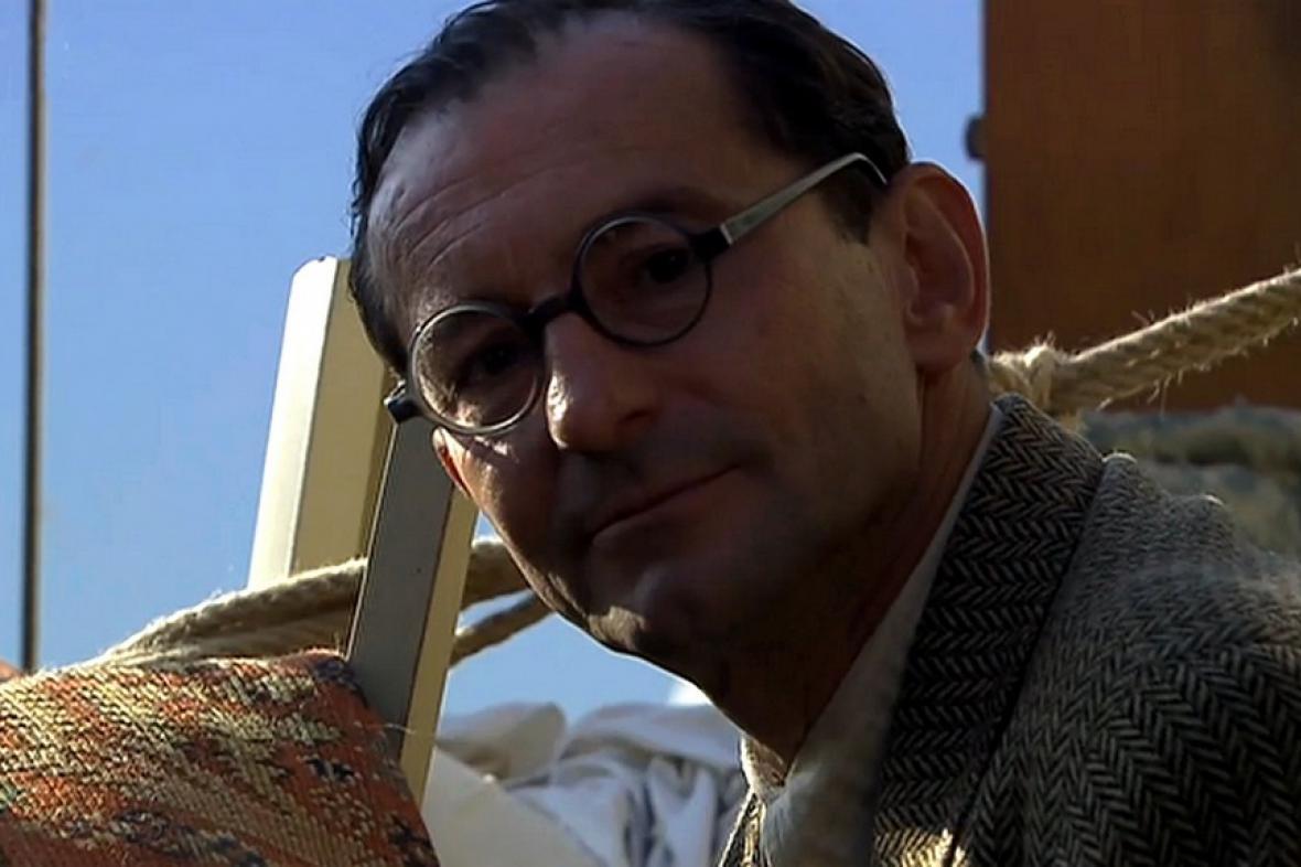 Ondřej Vetchý při natáčení filmu Po strništi bos