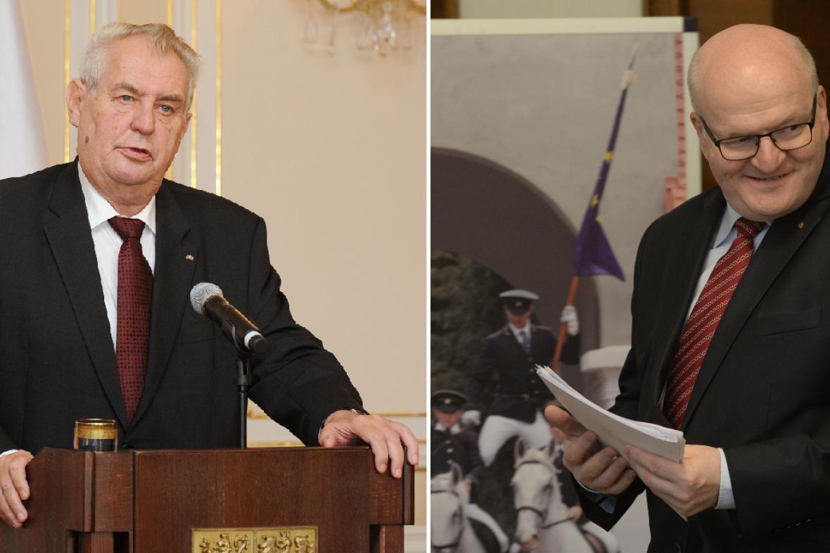 Miloš Zeman a Daniel Herman