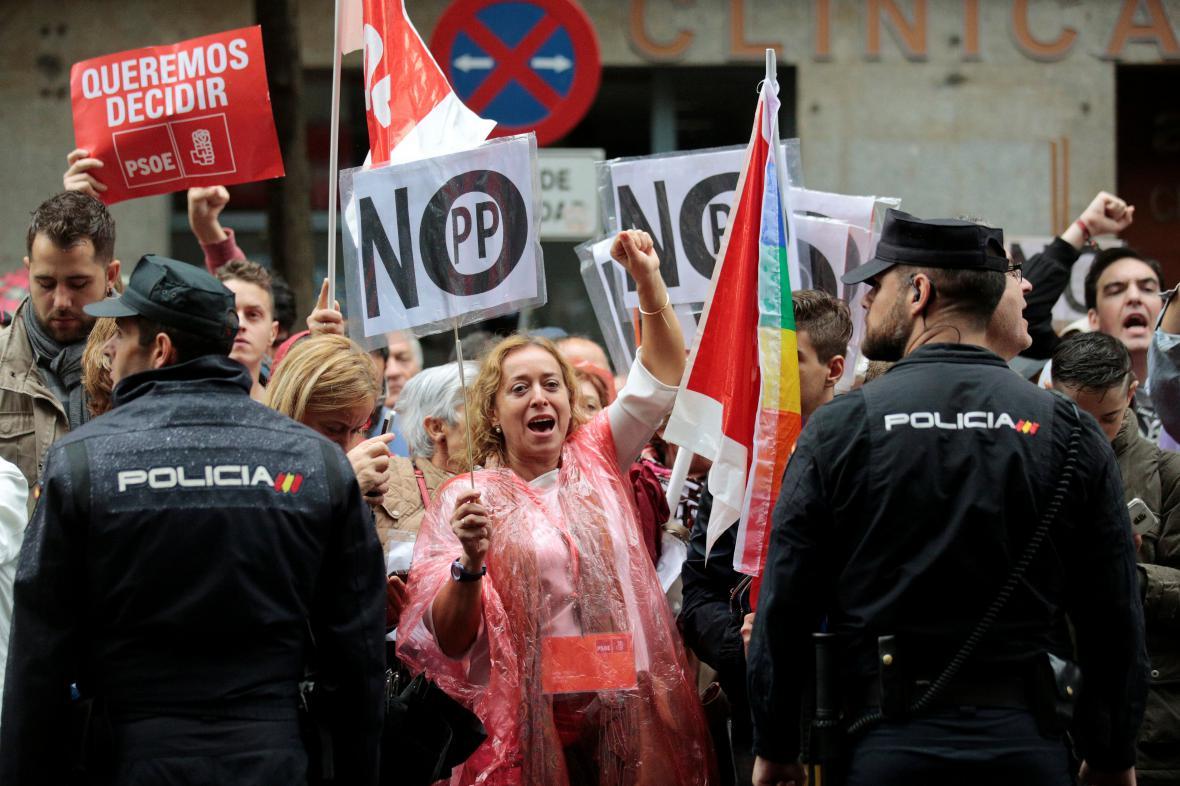 Protest proti vzniku vlády v čele s Rajoyem