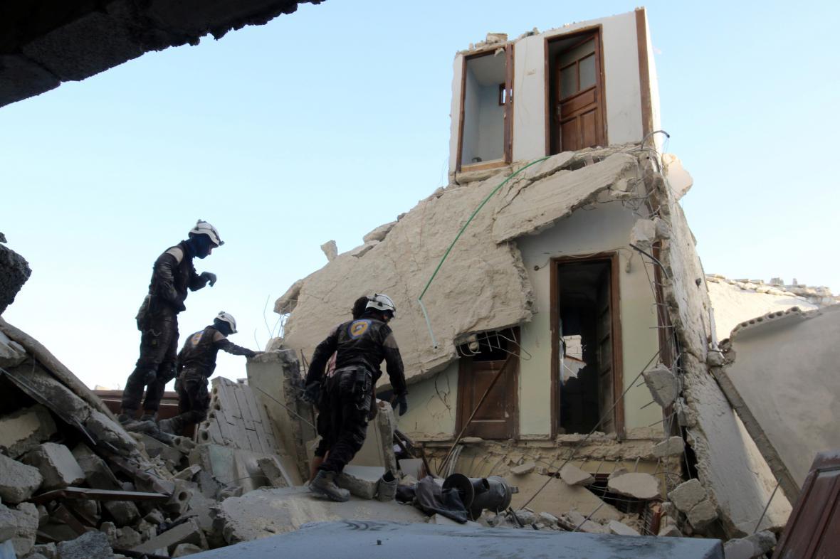Důsledky náletů na Aleppo