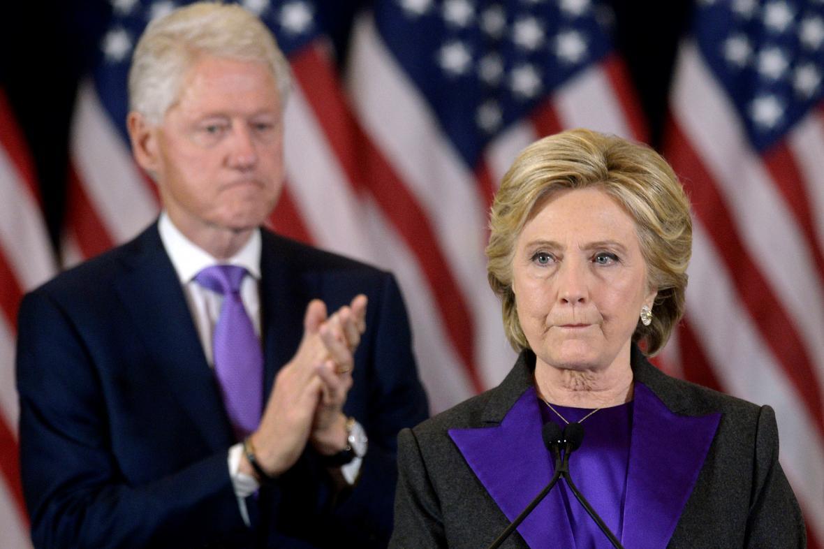 Hillary Clintonová v prvním veřejném projevu po prohraných volbách