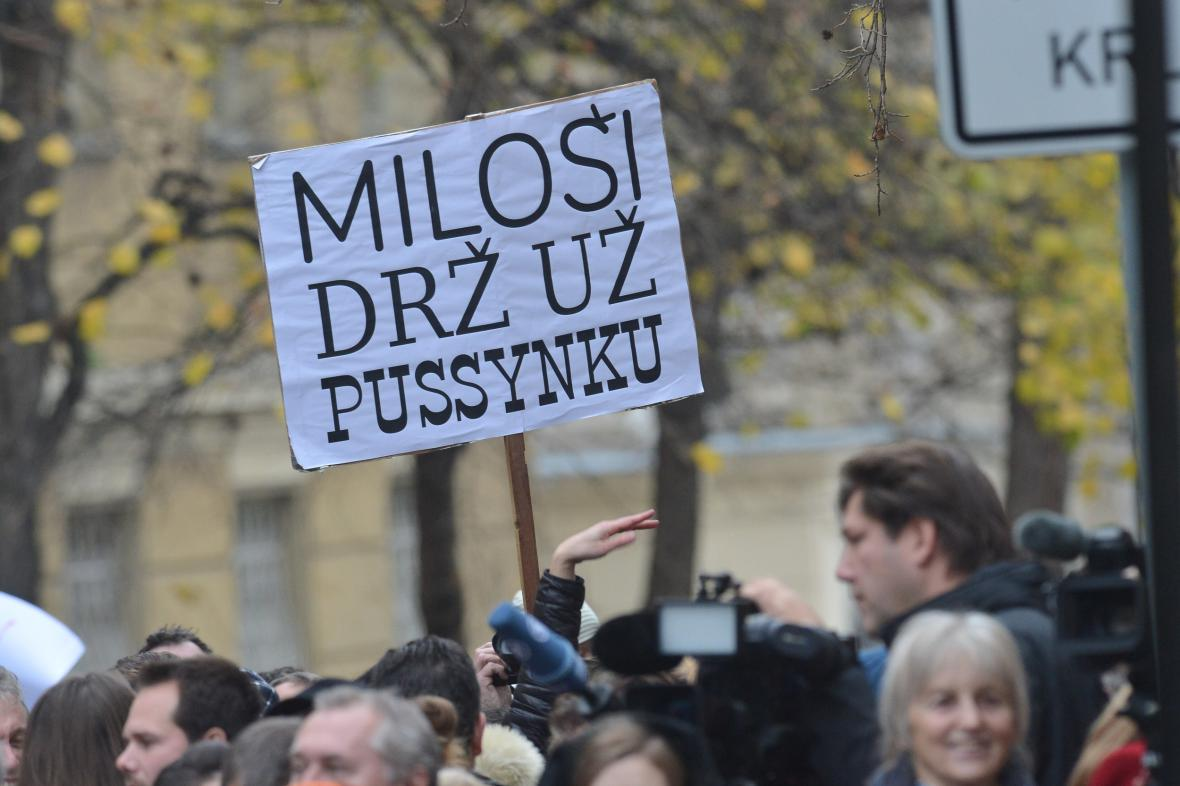 Protesty proti Zemanovi