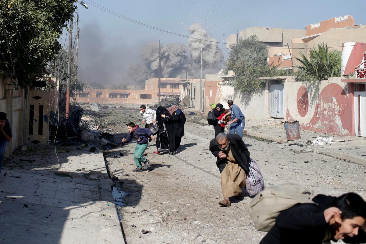 Panika v Mosulu