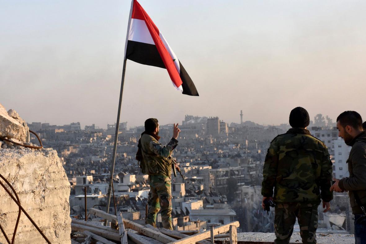 Vládní vojáci v Aleppu