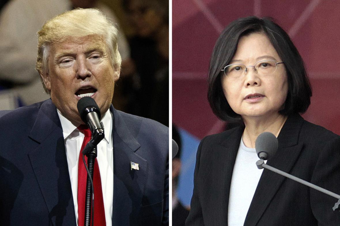 Donald Trump a Cchaj Jing-wen