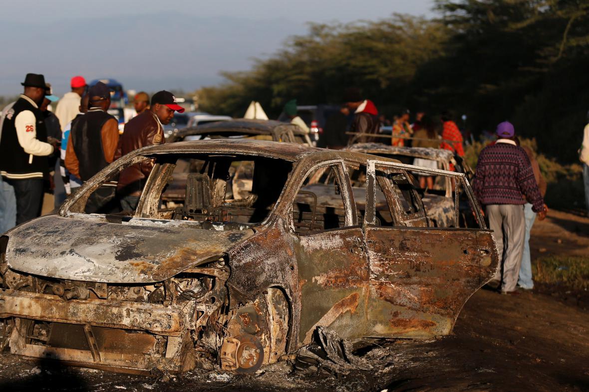 Exploze cisterny s plynem v Keni