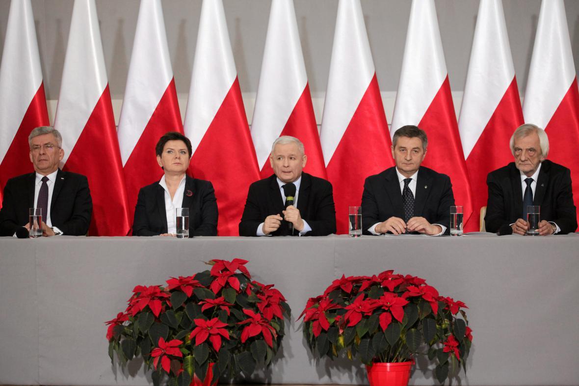 Přední činitelé polské vládní strany Právo a spravedlnost (PiS)