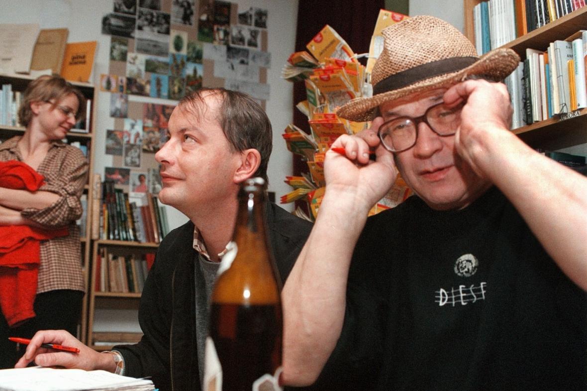 Filip Topol a Martin Jirous
