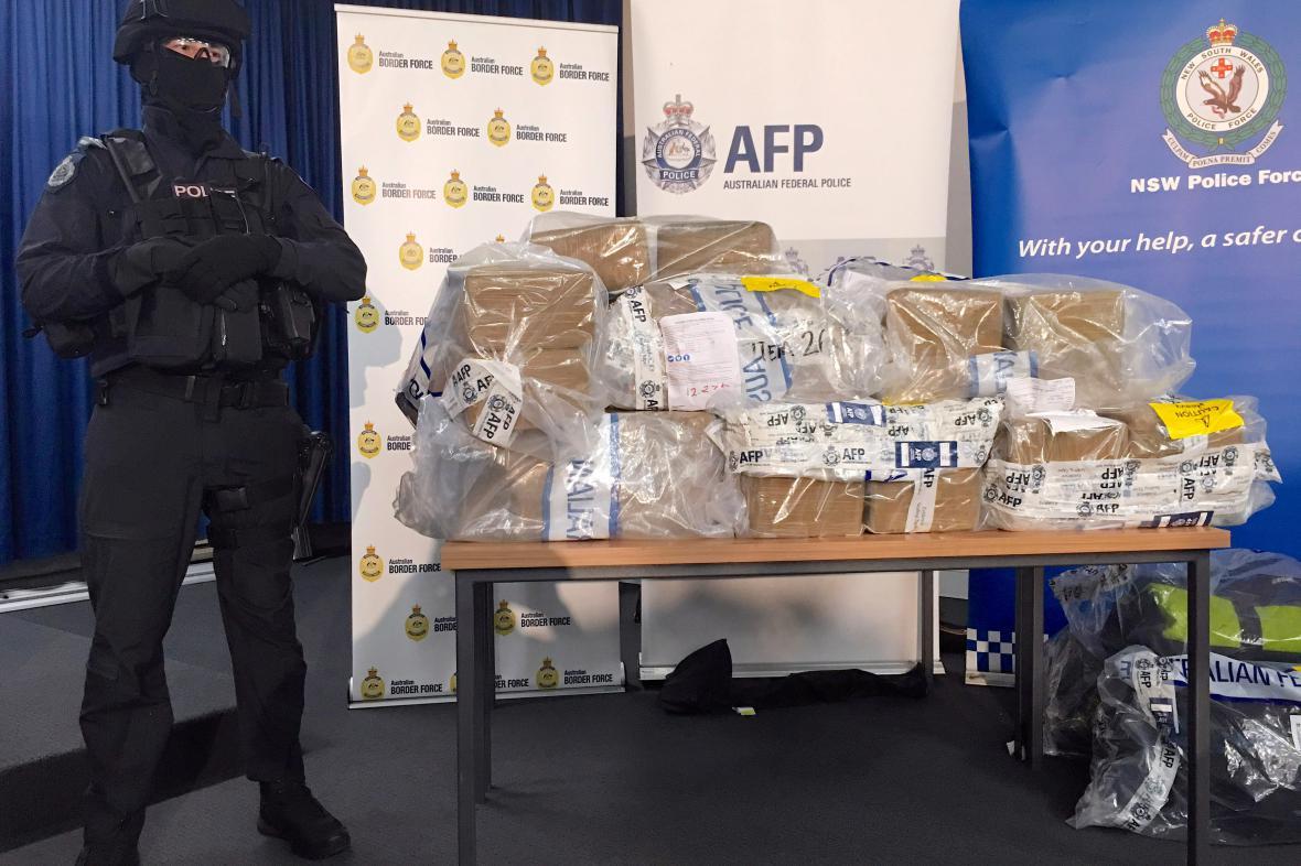 Australany zabavený kokain