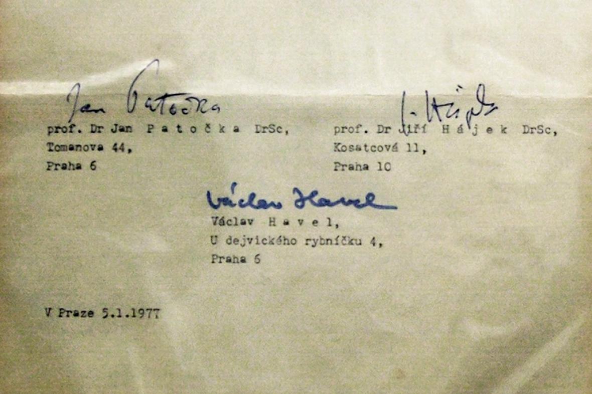 Podpisy mluvčích pod Chartou 77