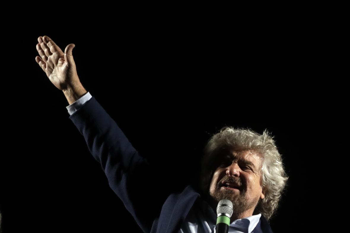 Šéf Hnutí pěti hvězd Beppe Grillo