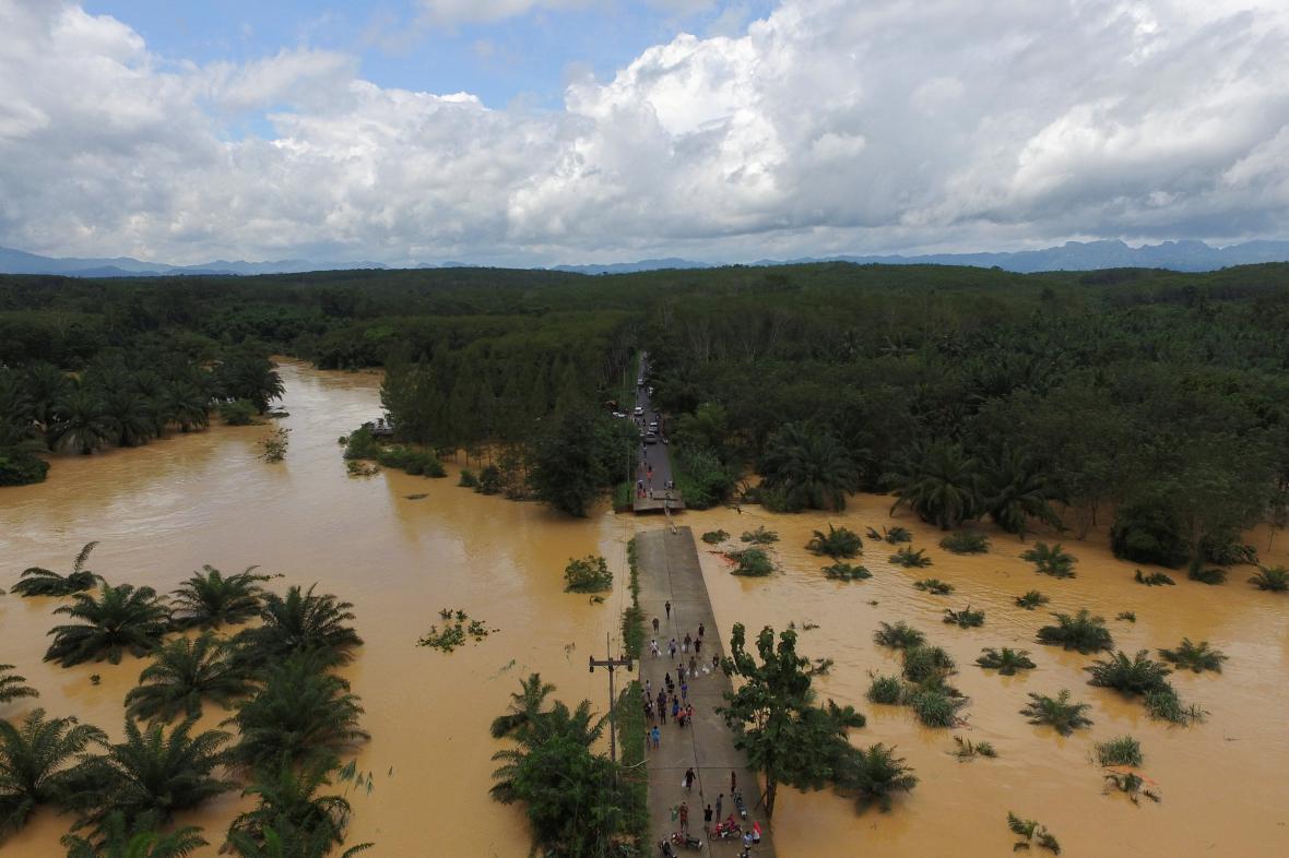 Záplavy na jihu Thajska