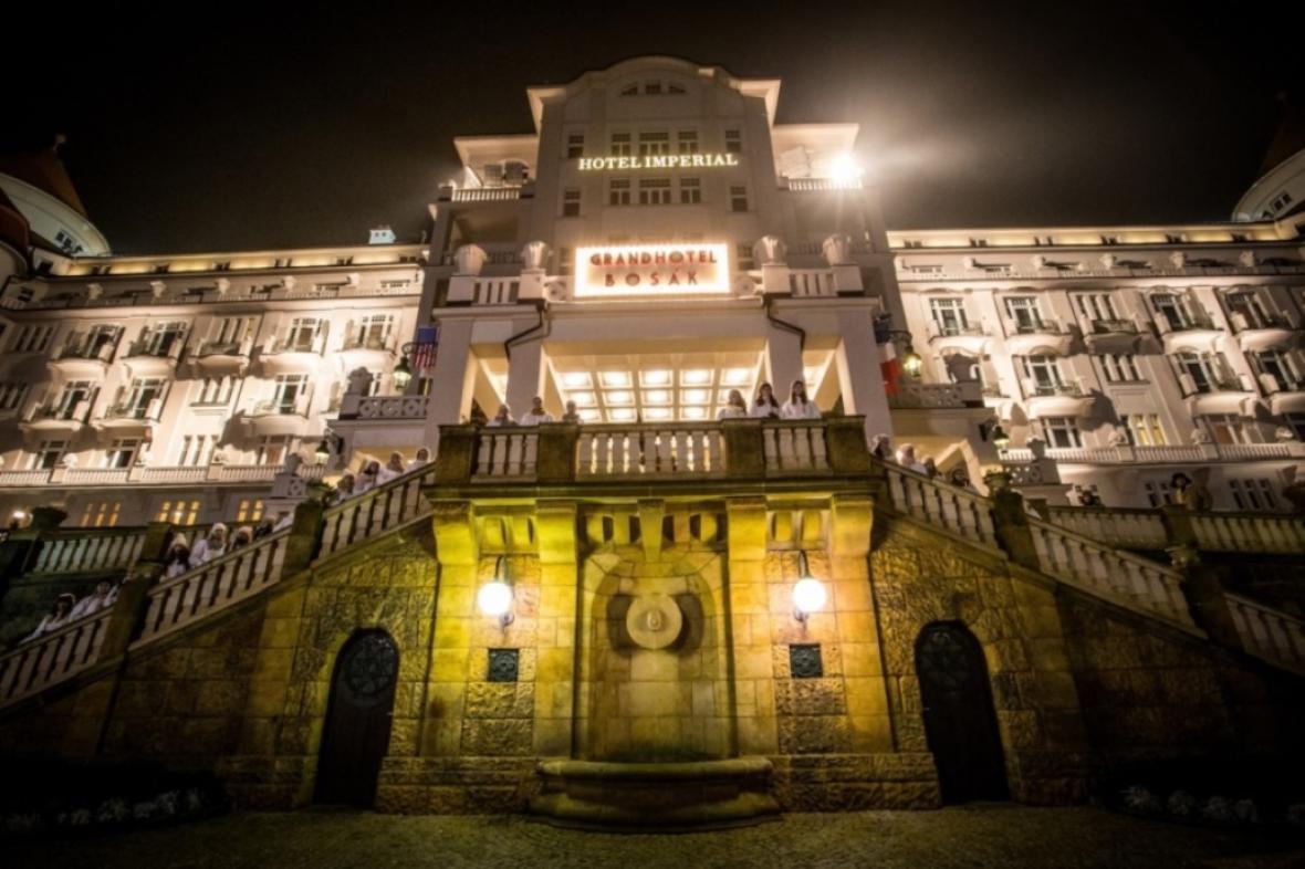 Natáčení Přání k mání / Hotel Imperial