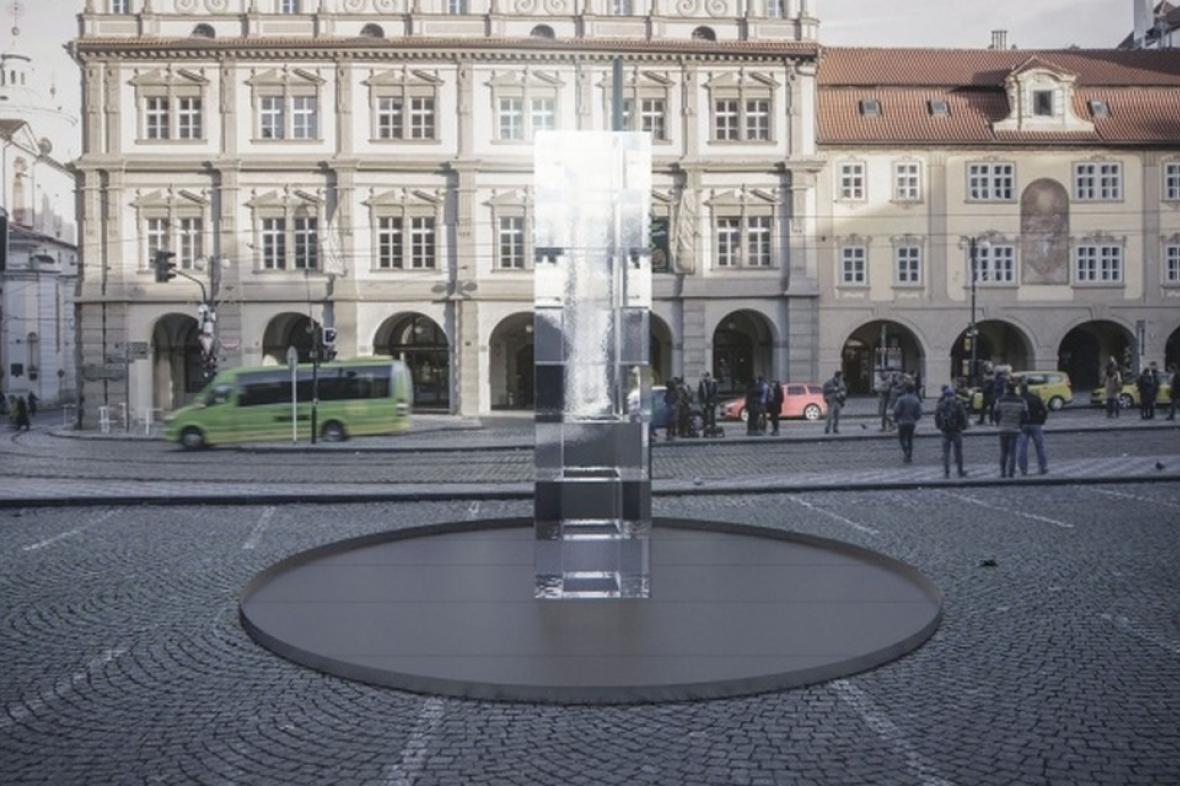 Ledová instalace na Malostranském náměstí