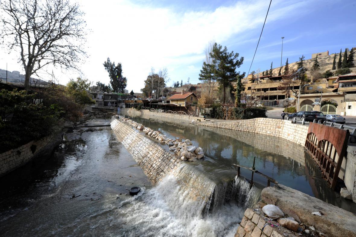 Syrská řeka Barada